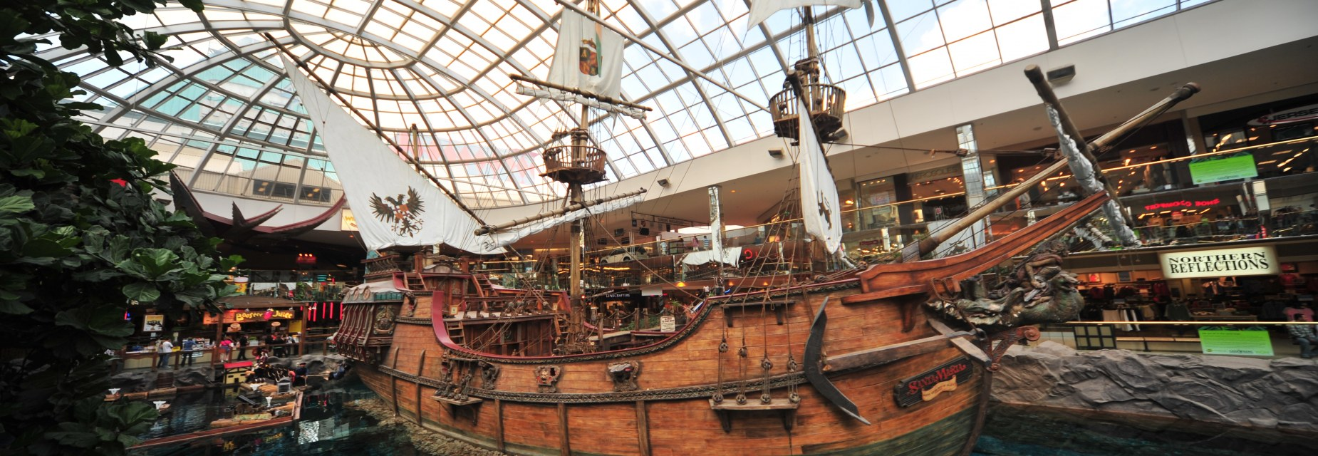 Visit the spectacular pirate ship